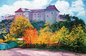 Uzhhorod Castle, 1999, oil on canvas, 56,5х84,5