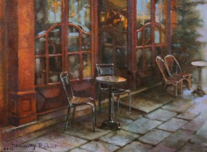 In Cafe, 2016, oil on canvas, 30x40