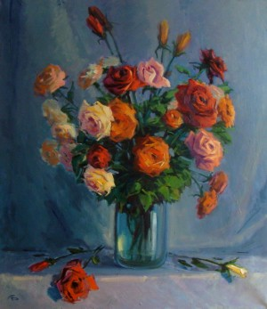 Roses, 2012, oil on canvas, 80х70