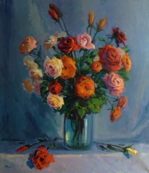 Троянди, 2012, п.о., 80х70