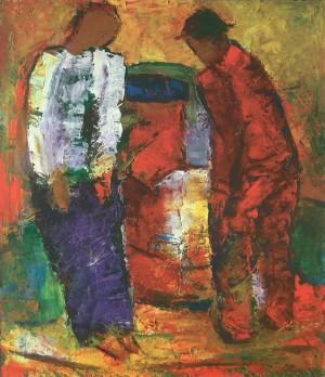 Біля криниці, 2011, п.о., 70х60