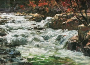Mountain River, 2010, 70x100