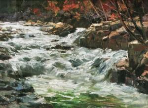 Гірська річка, 2010, 70х100