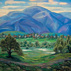 Долина нарцисів, 1992, к.о., 75х75
