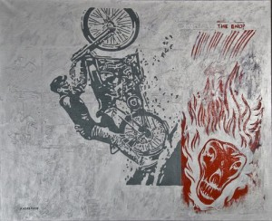Biker from the series of works Aluminium