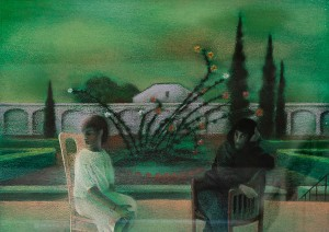 N. Ponomarenko 'Summer In Olesko Village', 1987, pastel on cardboard, 50x70