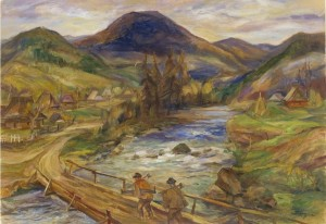 Legend of Lake Synevyr, 1990 oil on canvas, 100х70,5