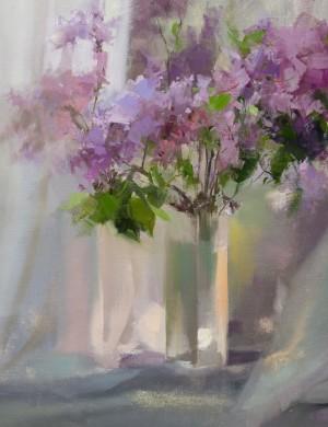Lilacs II oil on canvas 65x50.