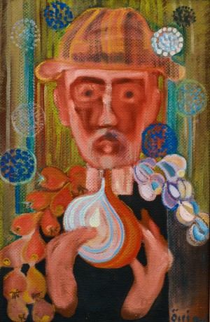 F. Seman, Self portrait with onion and garlic, 2001