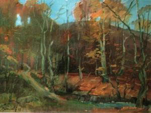 Осінь під Карпатами, п.о., 2005, 60х80