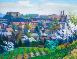 Весняний Ужгород, 1989, карт.о., 50х65