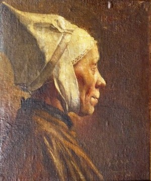 Woman In Headgear, Munich, 1901, 51х41