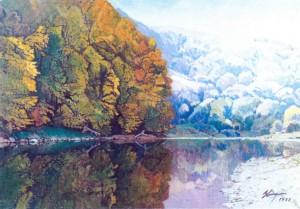 Осінь в селі Кам'яниця, 1997, п.т., 99х67