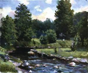Літній пейзаж з річкою