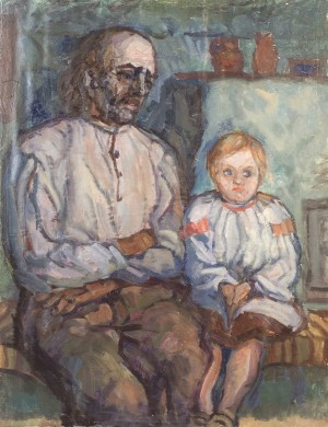 Grandfather And Granddaughter, 1961, oil on canvas, 80x60