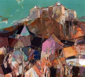 Castle Mountain, 2006, oil on canvas, 90x100