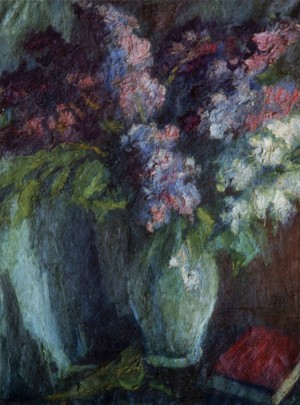 Still Life with Lilac, 1930, oil on canvas. 77x57