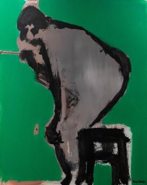 Габда Влад Триптих 'Автопортрет'.  'Маніпулятор', 2018, п.акр., 150х120