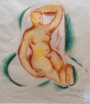 B. Kosariev 'Danaia', coloured pencil on paper