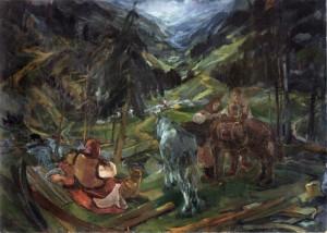 На полонину, 1940, фанера, о., 115,5х161,5