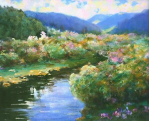 Summer Landscape Over The Uzh River, 1999, 65x85