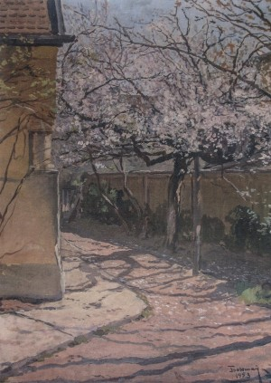The Courtyard Of The Artist, 1953, oil on canvas, 70x50