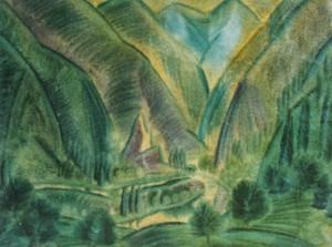 Долина, 1930-ті рр., пап.темп. 74х56,5
