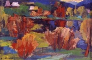 Осінь над ставком, 2001, к.т. 23х35