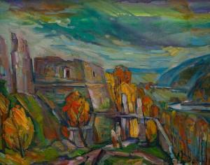 Багній М. 'Руїни Хустського замку'