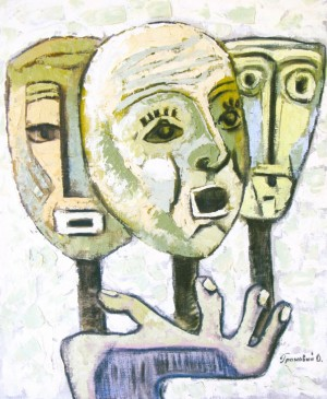 Masks, 2005, oil on canvas, 60x50