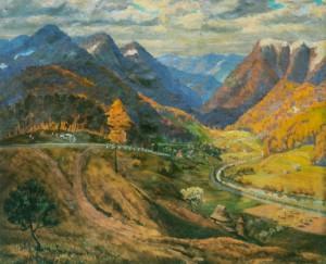 Дорога в горах, поч.1960-х рр., п.о. 100х120