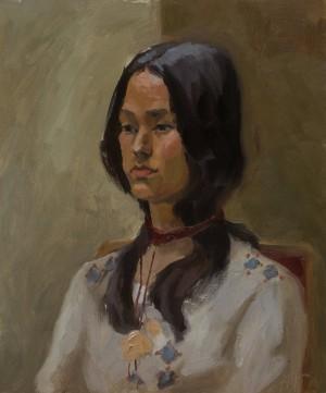 Anastasiia Horyslavets. Portrait. 2017. 50х60