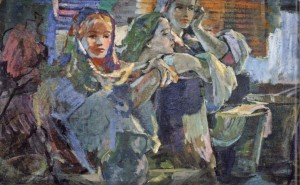 Young Girls, 1950, oil on canvas, 101х174,5