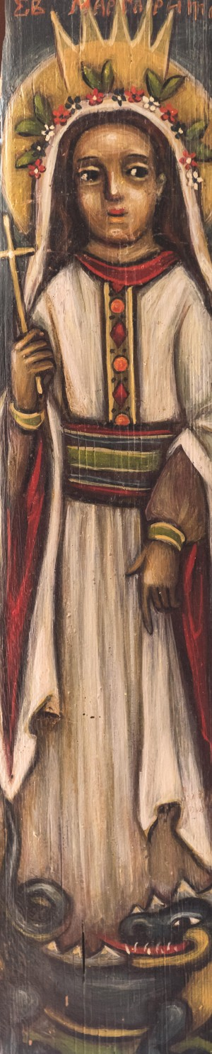 T. Duman St Margarita', a shingle board, tempera, 50x11
