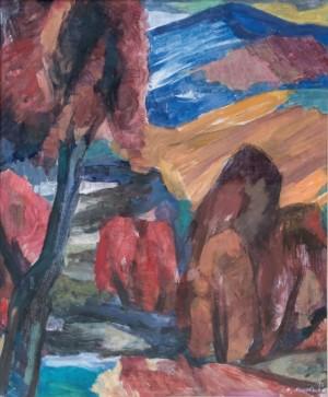 Осінь на передгір'ї, 2014, к.т. 72х61