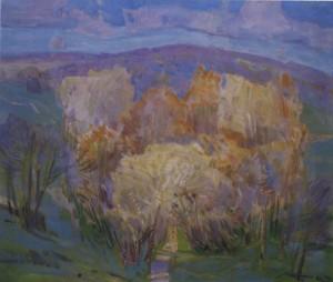 Жовті дерева, 1986, п.о. 65х75