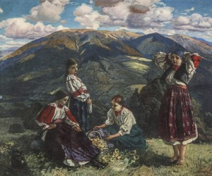 Girls On Polonyna, 1933, oil on canvas, 110х130,5