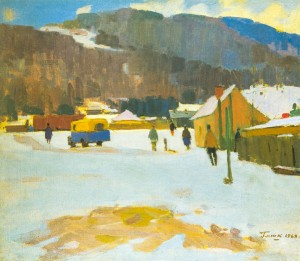 Winter, 1968, oil on canvas, 69,5х80