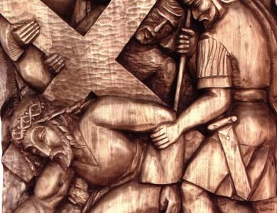 Ісус падає під тягарем хреста. Фрагмент