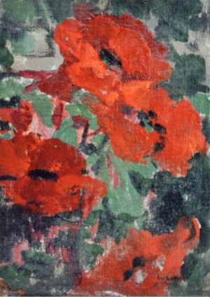 Poppies, 1940, oil on canvas, 39х28