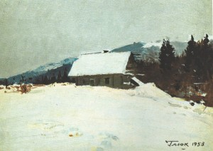Winter, 1953, oil on canvas, 25х35