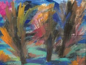 Осінні дерева, 2007, пап.гуаш 43х56,5