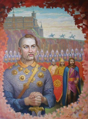 Sviatoslav The Brave, 2009, oil on canvas, 80x60