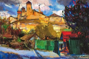 Spring In Kamianets-Podilskyi, 2010, oil on canvas, 60x90