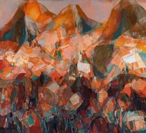 Carpathian Generous Colours, 2002, oil on canvas, 90x100