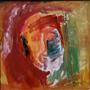 Jesus Christs, from the photo archive of Y. Nebesnyk, 1995, oil on canvas, 60x60