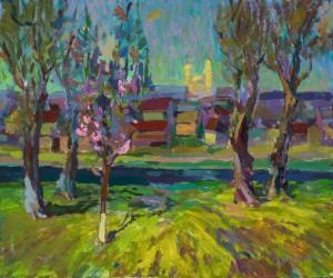 Maksym Hospodynchyk. Cityscape. 2017. 50х60