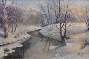 Winter, oil on canvas, 53x79