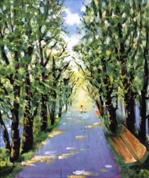 Набережна алея, 1997, 70x60