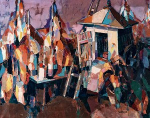 Flowers Near The Well, 2004, oil on canvas, 80x100